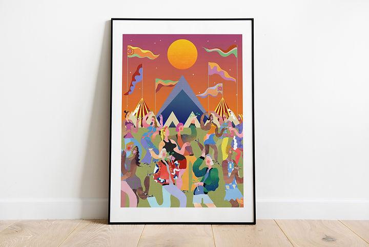 Glastonbury themed commission