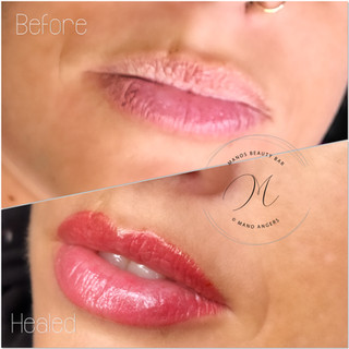 healed lip blush