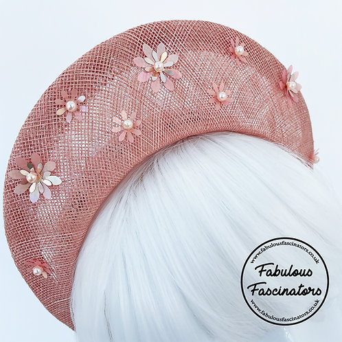 ALYSIA Blush Pink Halo Fascinator