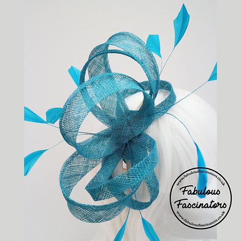 GWEN Turquoise Fascinator