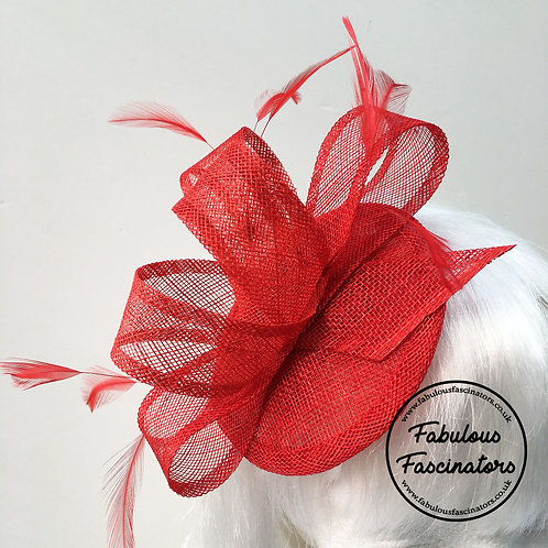 TAFFY Red Fascinator