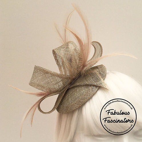 TAFFY Champagne Gold Fascinator