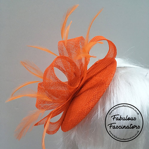 TAFFY Orange Fascinator