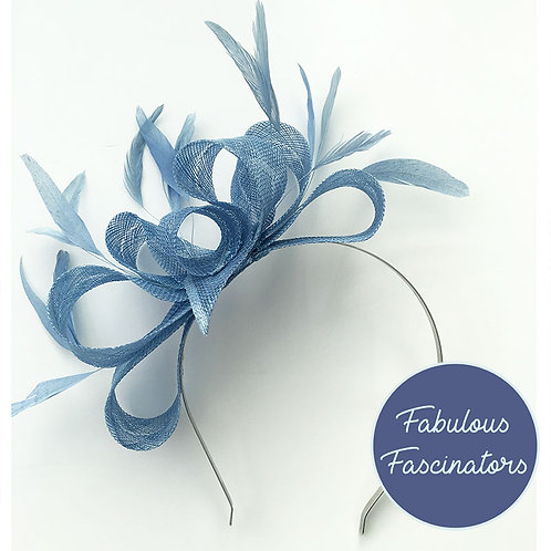 MYFANWY Pale Blue Fascinator