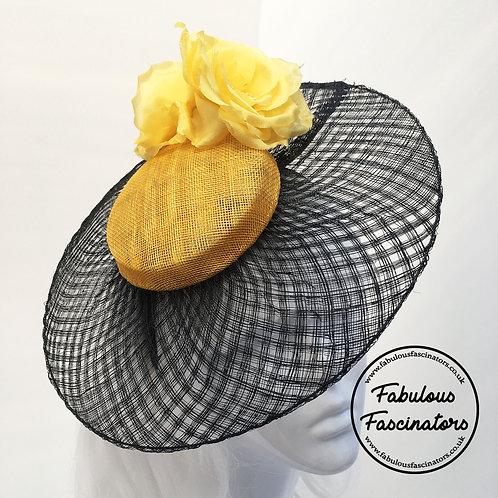 LOWRI Black/Yellow Lattice Brim Hatinator