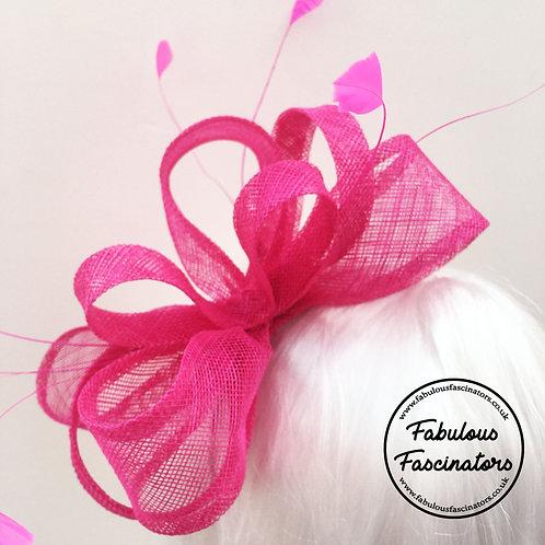 SEREN Hot Pink Fascinator