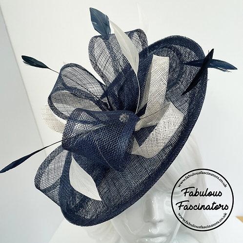 BRONWYN Navy and Ivory Small Hatinator