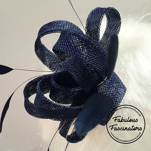 AURES Navy Small Fascinator