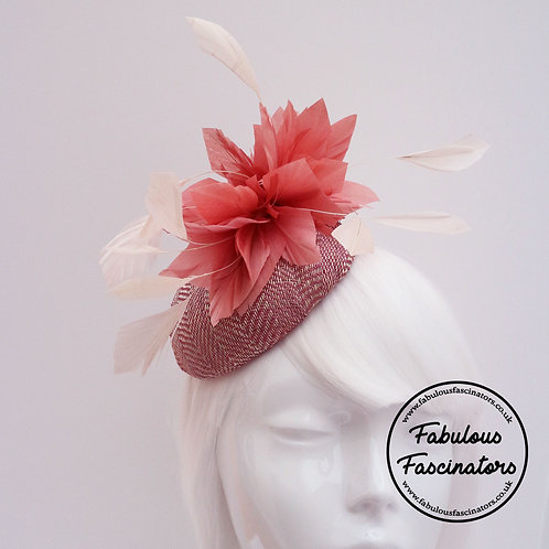 PENWAIG Herringbone Sinamay Button Fascinator