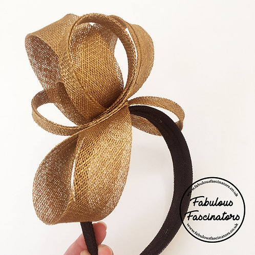 IONA Gold and Black Fascinator Hairband