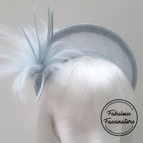 ALYS Light Blue Halo Fascinator