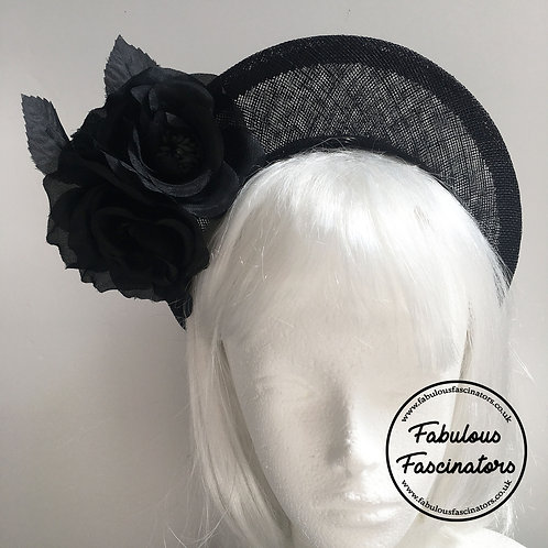 ALYS Black Halo Fascinator