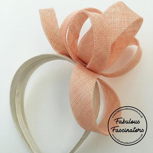 IONA Peach and Ivory Fascinator Hairband