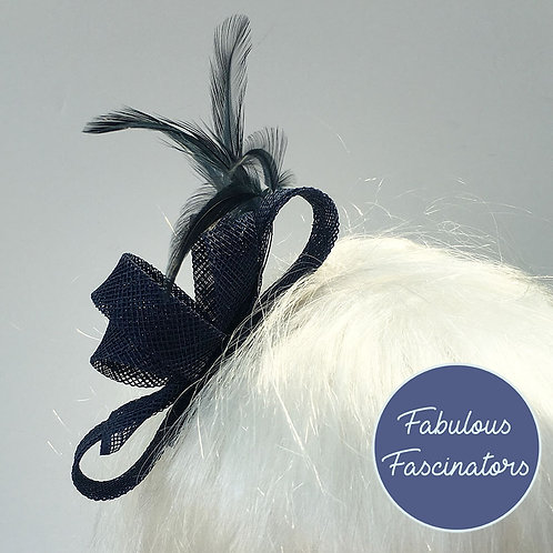 DELIA Small Navy Fascinator