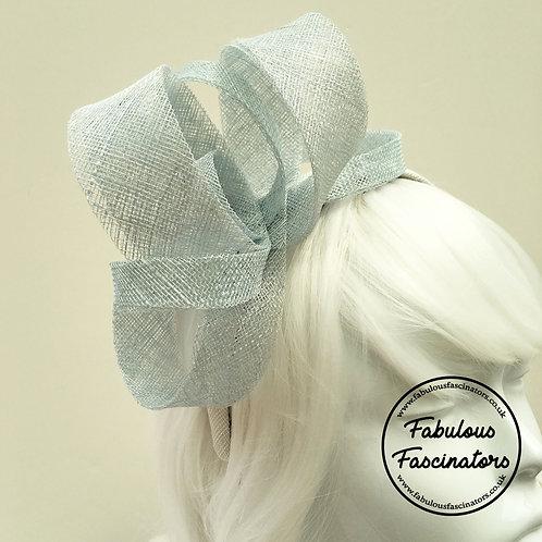IONA Light Blue and White Fascinator Hairband
