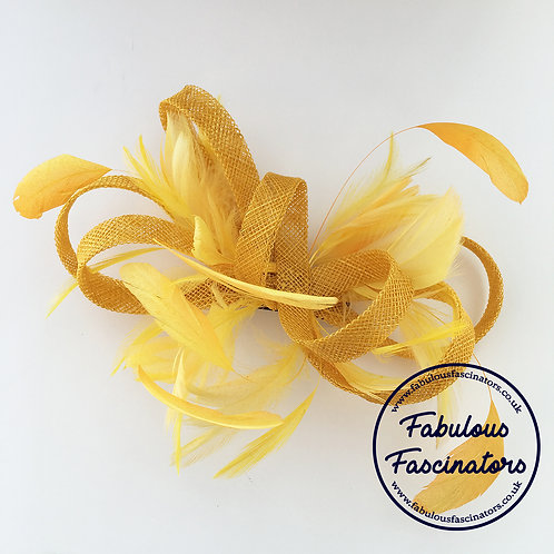 FFION Medium Feather Fascinator