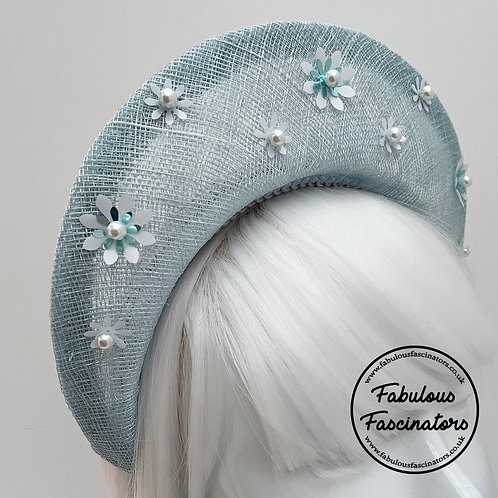 ALYSIA Light Blue Halo Fascinator