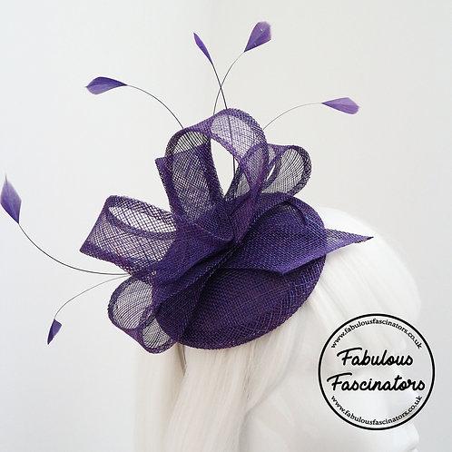 TAFFY Purple Fascinator