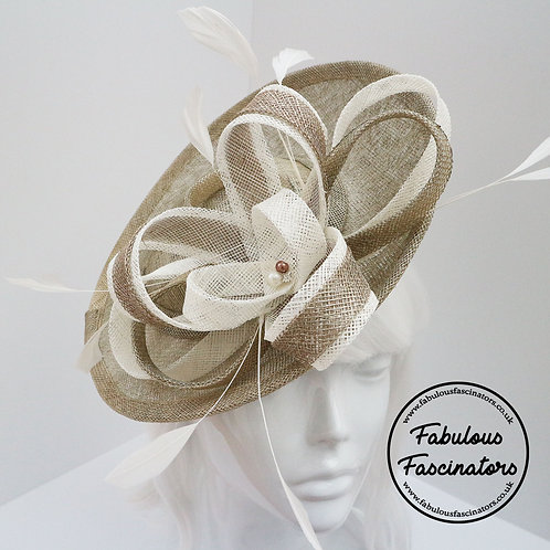 CARYS Champagne Gold and Ivory Small Hatinator