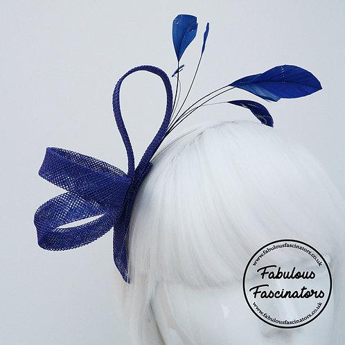 ADERYN Royal Blue Small Fascinator