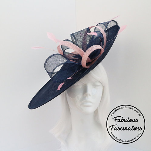BRONWEN Navy and Light Pink Hatinator