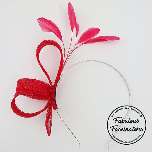 ADERYN Fuchsia Small Fascinator