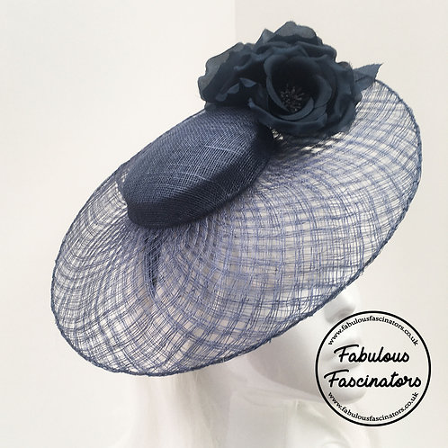 LOWRI Navy Lattice Brim Hatinator