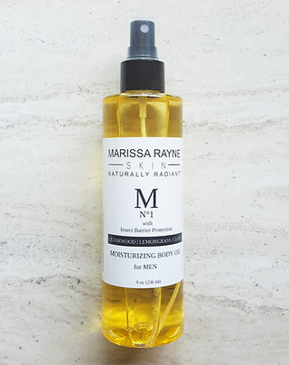 Moisturizing Face & Body Oil For Men   with Insect Barrier Protection