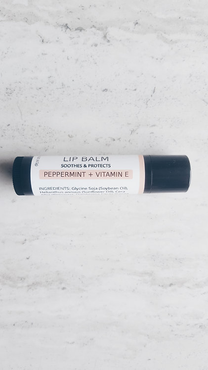 Peppermint + Vitamin E | Lip Balm