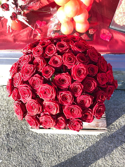 60 Red Rose Bouquet