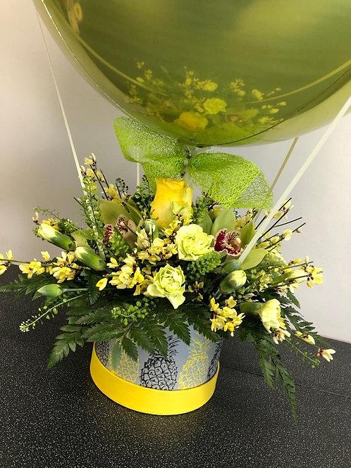 Yellow and Green Balloon Hatbox
