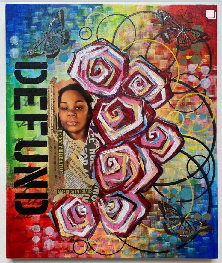"Africa Harris, Group Show ""Art in the Year of Uncertain Time"", October 2020"