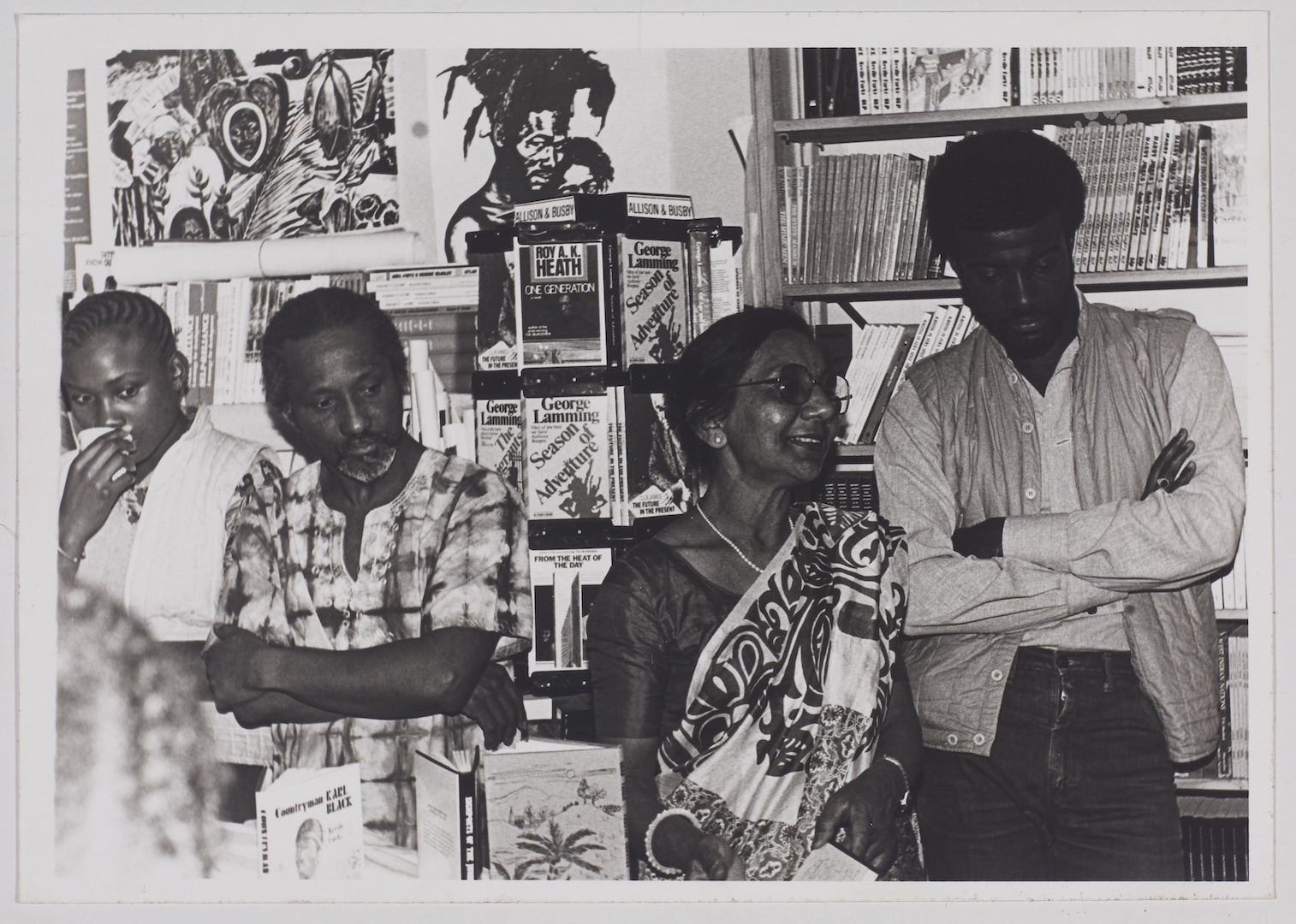 18 L to R - Eric Huntley _ Keith Waite at Bookshop event. c1970s. Huntley Archives at London Metropo