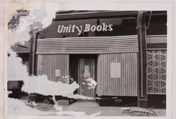 13 Racist attack on Unity Bookshop, Birmingham. c1970s. Huntley Archives at London Metropolitan Arch