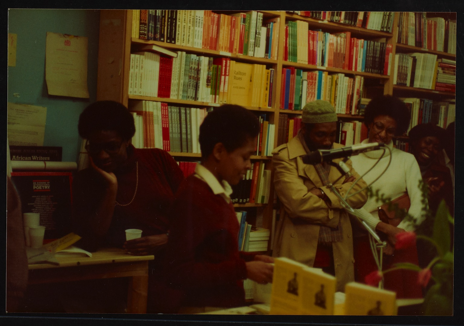 11 L to R - Ann Duncan, Valerie Bloom (performing) _ Imruh Bakari. Huntley Archives at London Metrop