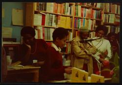 11 L to R - Ann Duncan, Valerie Bloom (performing) _ Imruh Bakari. Huntley Archives at London Metrop