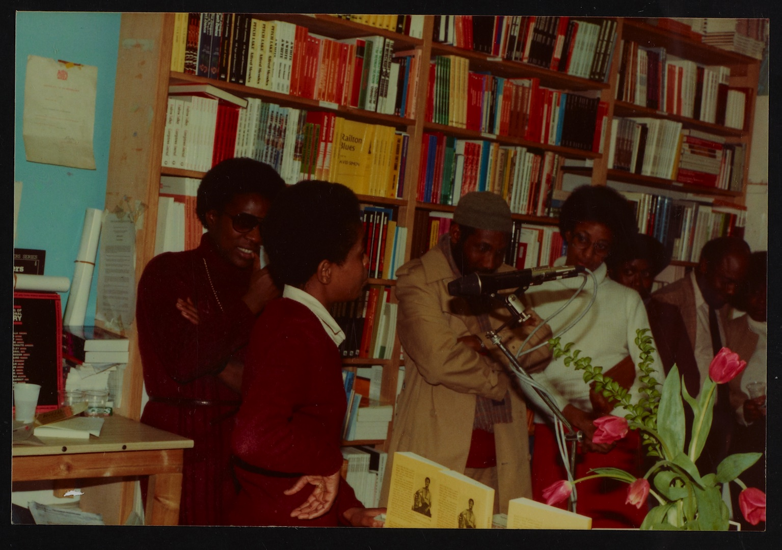 07 L to R - Ann Duncan, Valerie Bloom (performing) _ Imruh Bakari. Huntley Archives at London Metrop