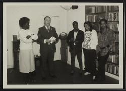 08 L to R - Jessica Huntley, Martin Luther King Jr, unknown, Stella Dadzie _ Suzanne Scafe (Memorial