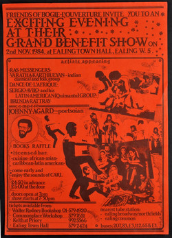 32 Friends of Bogle-Grand Benefit Show (Ealing Town Hall). 1984. Huntley Archives at London Metropol