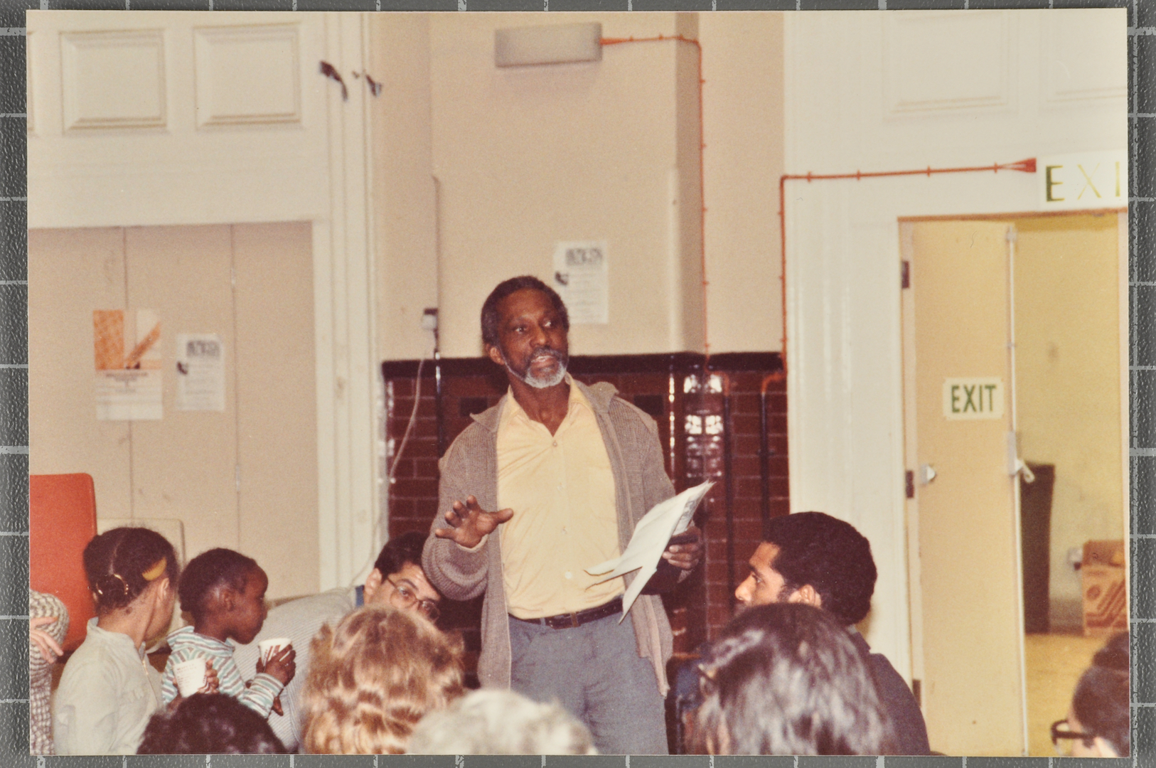 07 Eric Huntley (speaking) at Bogle-L'Ouverture Publication event. c1980s. Huntley Archives at Londo