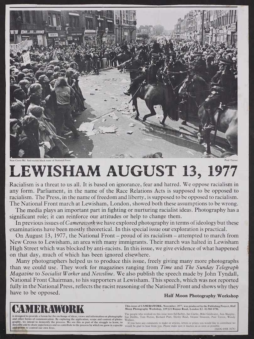 07 Lewisham Anti-National Front March (poster). 13th Aug. 1977. Huntley Archives at London Metropoli