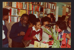 18 Valerie Bloom (talking with audience members). Huntley Archives at London Metropolitan Archives_A