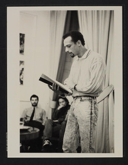04 Fred D'Arguir (reading) at Institute of Education. c1980s. Huntley Archives at London Metropolita