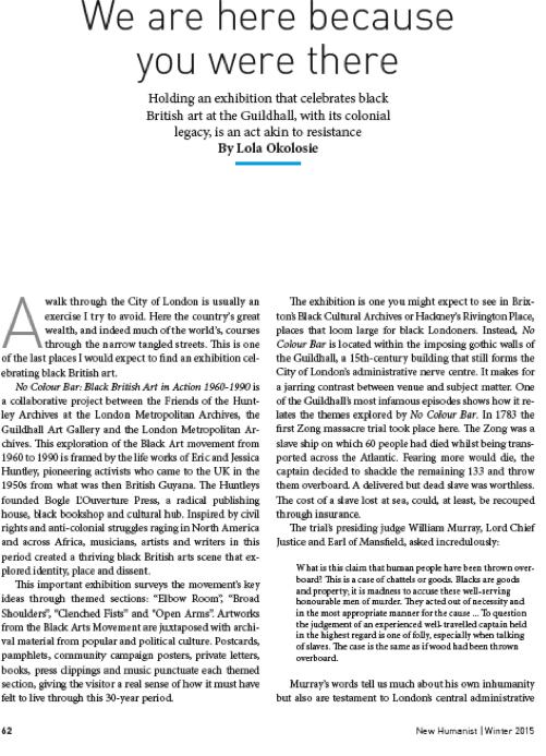 New Humanist Journal 11/15