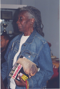 15 Jessica Huntley at Bogle-L'Ouverture Publications event. c1990s. Huntley Archives at London Metro
