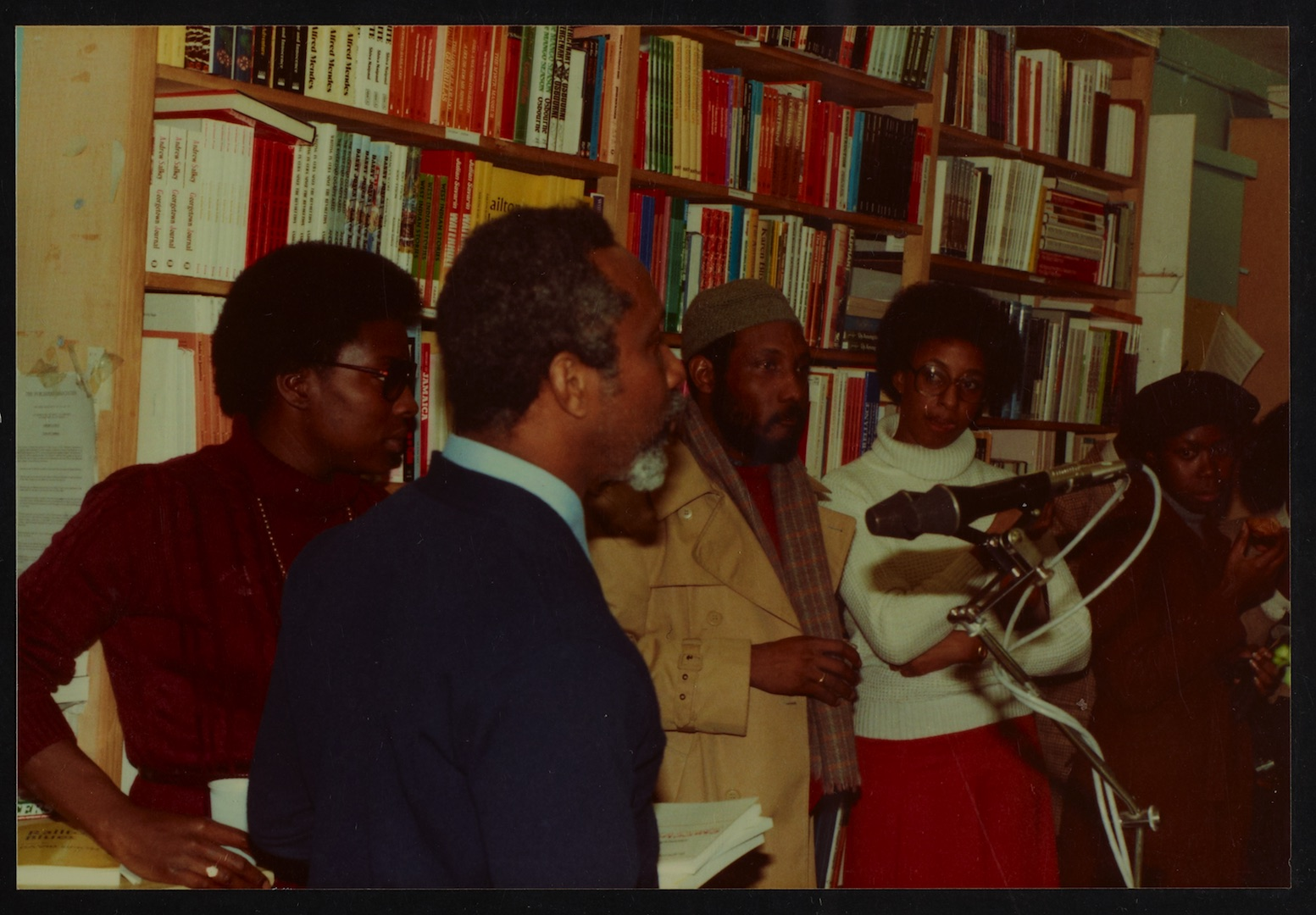 04 L to R - Ann Duncan, Eric Huntley (speaking) _ Imruh Bakari. Huntley Archives at London Metropoli