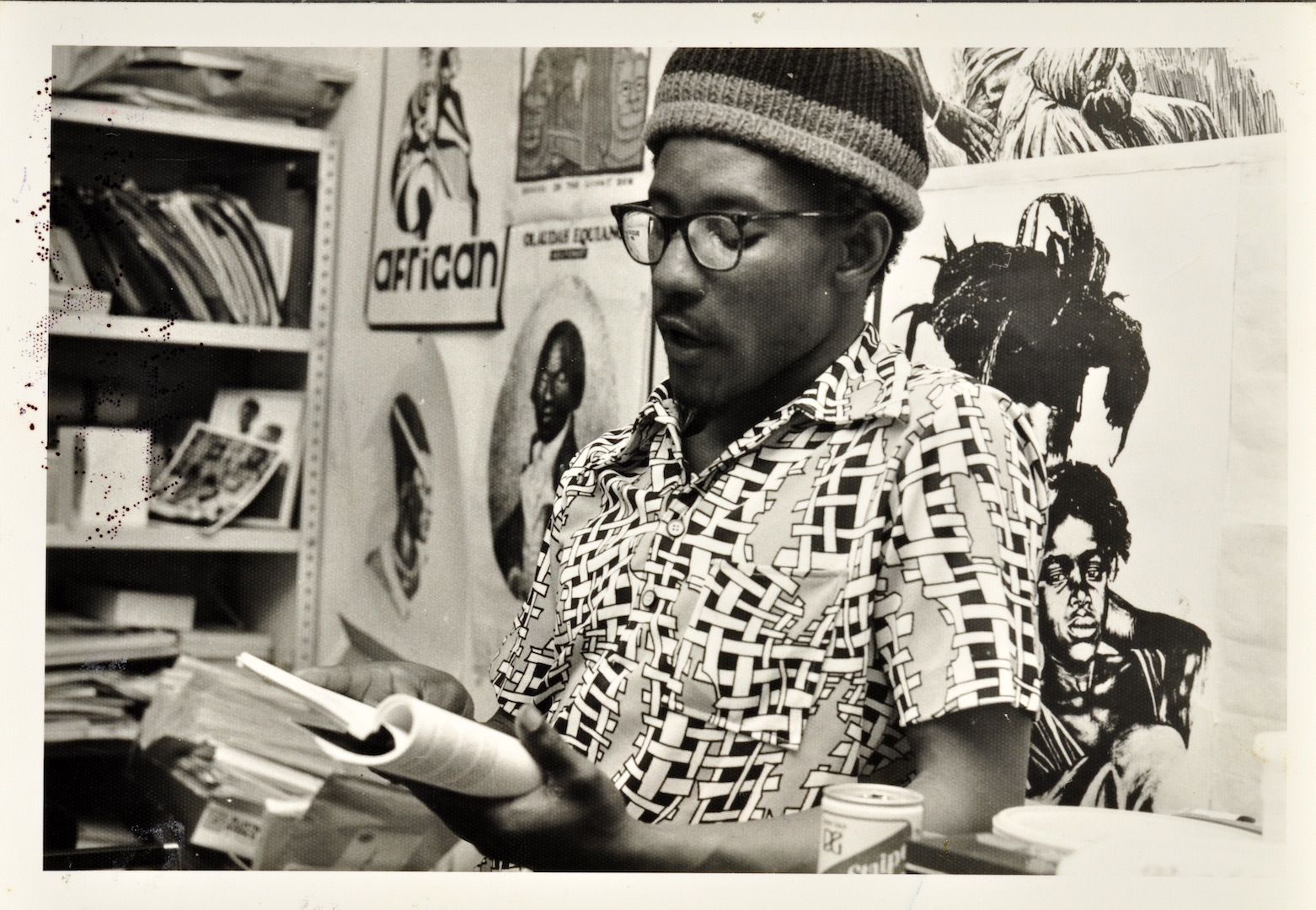 06 Linton Kwesi Johnson (reading). Huntley Archives at London Metropolitan Archives