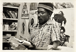 06 Linton Kwesi Johnson (reading). Huntley Archives at London Metropolitan Archives