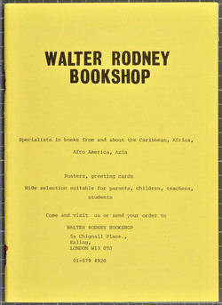 22 Walter Rodney Bookshop catalogue. c1980s. Huntley Archives at London Metropolitan Archives_Archiv