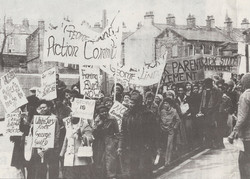 04 Black Parents Movement demonstration against the beating of Cliff McDaniel, London. 1973. Huntley